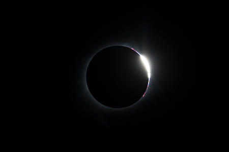The diamond ring at the end of totality