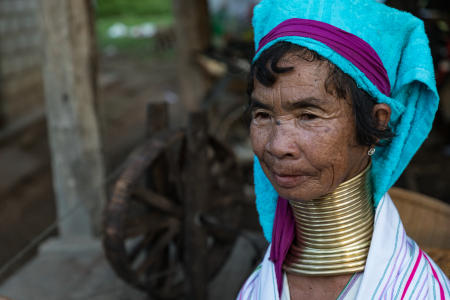 Woman from Padaung/Kayen tribe
