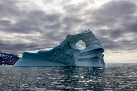 Iceberg near Ikkatteq, East Greenland