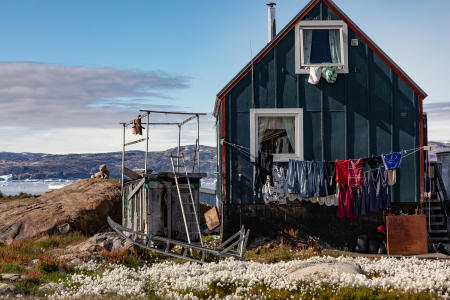 Typical village house, Tiniteqilaaq, East Greenland